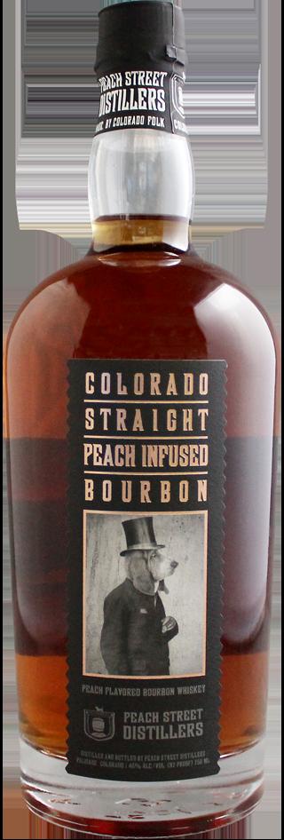 Colorado Straight Peach Infused Bourbon by Peach Street Distillers