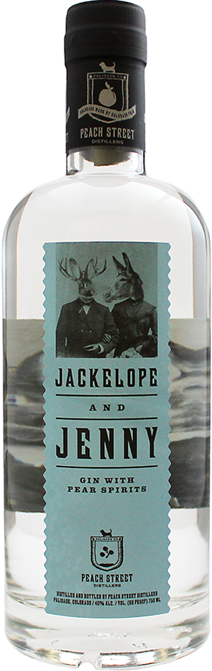Jackelope and Jenny Gin with Pear Spirits by Peach Street Distillers